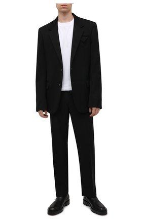 Мужская хлопковая футболка OFF-WHITE белого цвета, арт. 0MAA027F21JER005 | Фото 2 (Материал внешний: Хлопок; Принт: С принтом; Рукава: Короткие; Стили: Гранж; Длина (для топов): Стандартные)