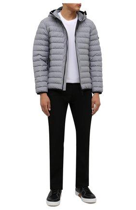 Мужские кожаные кеды tiziano ZEGNA COUTURE черного цвета, арт. A5029X-LHSWI | Фото 2 (Подошва: Массивная; Материал внутренний: Натуральная кожа)