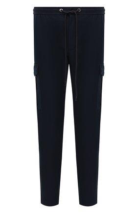 Мужские брюки-карго BOSS темно-синего цвета, арт. 50458472 | Фото 1 (Длина (брюки, джинсы): Стандартные; Материал внешний: Хлопок, Синтетический материал; Случай: Повседневный; Силуэт М (брюки): Карго; Стили: Кэжуэл)