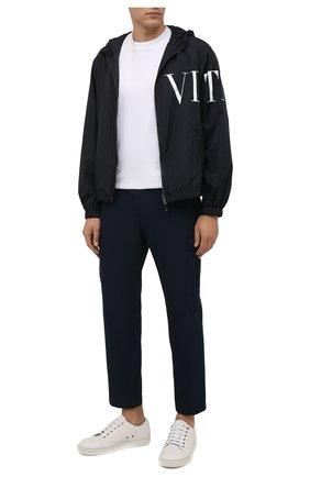 Мужские брюки-карго BOSS темно-синего цвета, арт. 50458472 | Фото 2 (Длина (брюки, джинсы): Стандартные; Материал внешний: Хлопок, Синтетический материал; Случай: Повседневный; Силуэт М (брюки): Карго; Стили: Кэжуэл)