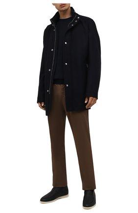 Мужская шерстяная куртка BOSS темно-синего цвета, арт. 50454028 | Фото 2 (Материал внешний: Шерсть; Рукава: Длинные; Длина (верхняя одежда): До середины бедра; Кросс-КТ: Куртка; Мужское Кросс-КТ: шерсть и кашемир; Стили: Классический)
