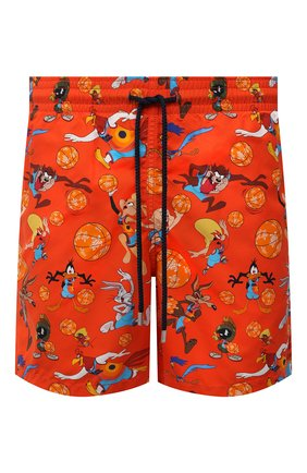 Мужские плавки-шорты vilebrequin x space jam VILEBREQUIN красного цвета, арт. MOOZ1B67/193 | Фото 1 (Материал внешний: Синтетический материал; Принт: С принтом; Мужское Кросс-КТ: плавки-шорты)