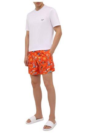 Мужские плавки-шорты vilebrequin x space jam VILEBREQUIN красного цвета, арт. MOOZ1B67/193 | Фото 2 (Материал внешний: Синтетический материал; Принт: С принтом; Мужское Кросс-КТ: плавки-шорты)