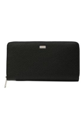Мужской кожаное портмоне BOSS черного цвета, арт. 50464357 | Фото 1