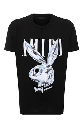 Мужская хлопковая футболка AMIRI черного цвета, арт. MJLT013-001 | Фото 1