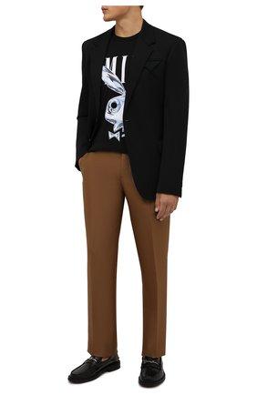Мужская хлопковая футболка AMIRI черного цвета, арт. MJLT013-001 | Фото 2