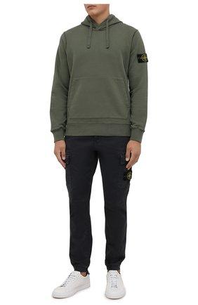 Мужские хлопковые джоггеры STONE ISLAND темно-серого цвета, арт. 7515313L1 | Фото 2