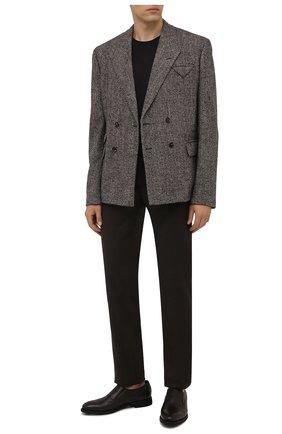 Мужские кожаные лоферы BARRETT темно-коричневого цвета, арт. 201U016.7/CERV0 ASP0RTABILE | Фото 2 (Материал утеплителя: Натуральный мех; Стили: Классический)