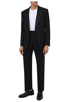 Мужские кожаные лоферы BARRETT темно-синего цвета, арт. 201U016.8/CERV0 ASP0RTABILE | Фото 2 (Материал утеплителя: Натуральный мех; Стили: Классический)
