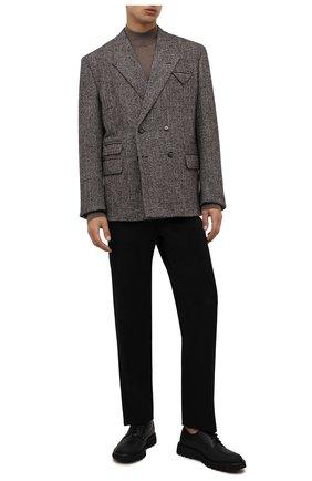 Мужские кожаные дерби BARRETT черного цвета, арт. BASTIA-018.1/GUM | Фото 2 (Материал внутренний: Натуральная кожа; Стили: Классический)