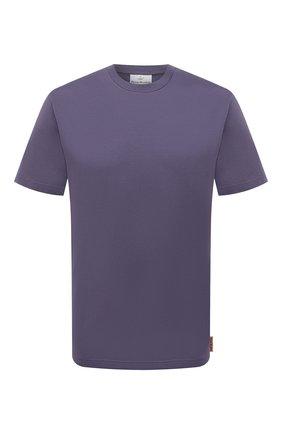 Мужская хлопковая футболка ACNE STUDIOS фиолетового цвета, арт. BL0230 | Фото 1 (Длина (для топов): Стандартные; Рукава: Короткие; Материал внешний: Хлопок; Принт: Без принта)