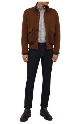 Мужские кожаные челси HOGAN коричневого цвета, арт. HXM5760DT40Q7Q | Фото 2 (Материал внутренний: Текстиль; Мужское Кросс-КТ: Сапоги-обувь, Челси-обувь; Подошва: Плоская)