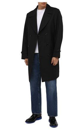 Мужские кожаные дерби HOGAN черного цвета, арт. HXM5760DU60QFY   Фото 2 (Материал внутренний: Натуральная кожа, Текстиль; Стили: Классический)