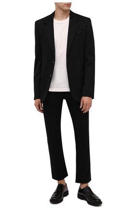 Мужские кожаные дерби TOD'S черного цвета, арт. XXM06H0EP60AKT | Фото 2 (Материал внутренний: Натуральная кожа; Стили: Классический; Мужское Кросс-КТ: Броги-обувь)