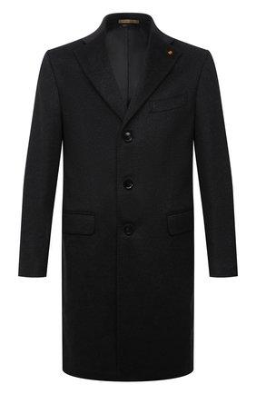 Мужской кашемировое пальто SARTORIA LATORRE темно-серого цвета, арт. A0STA U8175X | Фото 1 (Материал подклада: Купро; Материал внешний: Кашемир, Шерсть; Рукава: Длинные; Длина (верхняя одежда): До середины бедра; Стили: Классический; Мужское Кросс-КТ: пальто-верхняя одежда)