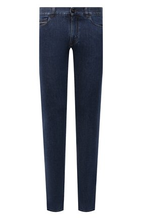 Мужские джинсы CANALI синего цвета, арт. 91732R/PX01028 | Фото 1 (Материал внешний: Хлопок; Кросс-КТ: Деним; Силуэт М (брюки): Прямые; Стили: Кэжуэл; Длина (брюки, джинсы): Стандартные)