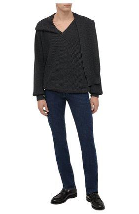 Мужские джинсы CANALI синего цвета, арт. 91732R/PX01028 | Фото 2 (Материал внешний: Хлопок; Кросс-КТ: Деним; Силуэт М (брюки): Прямые; Стили: Кэжуэл; Длина (брюки, джинсы): Стандартные)