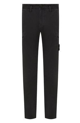 Мужские хлопковые брюки-карго STONE ISLAND темно-серого цвета, арт. 7515321L1 | Фото 1