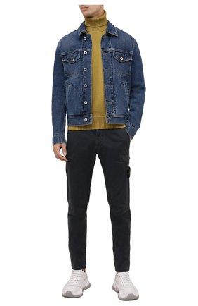Мужские хлопковые брюки-карго STONE ISLAND темно-серого цвета, арт. 7515321L1 | Фото 2