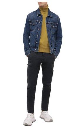 Мужской хлопковый свитер STONE ISLAND горчичного цвета, арт. 7515542A2 | Фото 2
