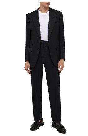 Мужские кожаные лоферы DOUCAL'S черного цвета, арт. DU1020VER0UM019NN00 | Фото 2 (Материал утеплителя: Натуральный мех; Стили: Классический)