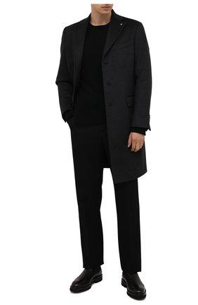 Мужские кожаные челси W.GIBBS черного цвета, арт. 7260004/2573 | Фото 2 (Подошва: Плоская; Материал утеплителя: Натуральный мех; Мужское Кросс-КТ: Сапоги-обувь, Челси-обувь, зимние сапоги)