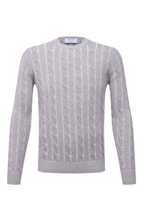 Мужской свитер из шерсти и кашемира GRAN SASSO серого цвета, арт. 23120/19654   Фото 1