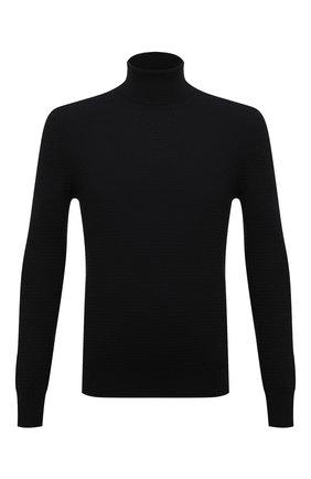 Мужской шерстяная водолазка GRAN SASSO черного цвета, арт. 57197/14277   Фото 1
