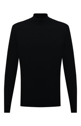 Мужской шерстяная водолазка FEDELI черного цвета, арт. 4UI07128   Фото 1