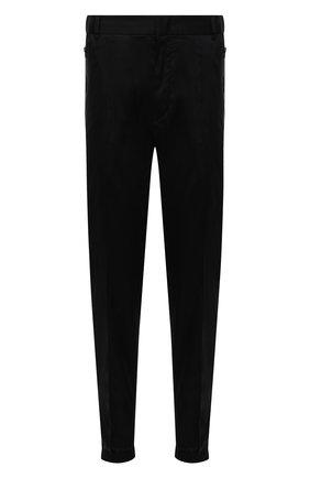 Мужские хлопковые брюки EMPORIO ARMANI черного цвета, арт. 6K1PG5/1NPQZ | Фото 1 (Материал внешний: Хлопок; Длина (брюки, джинсы): Стандартные; Случай: Повседневный; Стили: Кэжуэл)