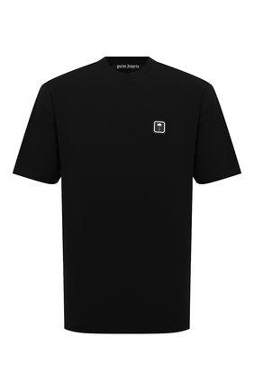 Мужская хлопковая футболка PALM ANGELS черного цвета, арт. PMAA001F21JER0121001 | Фото 1