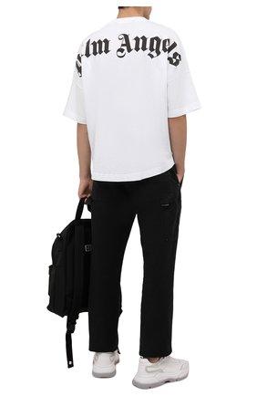 Мужская хлопковая футболка PALM ANGELS белого цвета, арт. PMAA002F21JER0020110   Фото 2 (Длина (для топов): Стандартные; Материал внешний: Хлопок; Принт: С принтом; Рукава: Короткие)