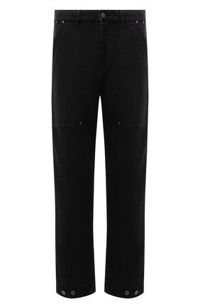 Мужские хлопковые брюки PALM ANGELS черного цвета, арт. PMCA099F21FAB0011010 | Фото 1 (Материал внешний: Хлопок; Длина (брюки, джинсы): Стандартные; Случай: Повседневный; Стили: Гранж)