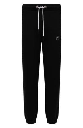 Мужские хлопковые джоггеры PALM ANGELS черного цвета, арт. PMCH012F21FLE0011001 | Фото 1 (Материал внешний: Хлопок; Силуэт М (брюки): Джоггеры; Стили: Спорт-шик; Мужское Кросс-КТ: Брюки-трикотаж; Длина (брюки, джинсы): Стандартные)