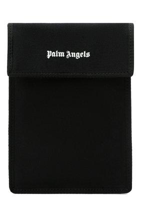 Мужская текстильная сумка PALM ANGELS черного цвета, арт. PMNN001F21LEA0011001 | Фото 1 (Материал: Текстиль; Ремень/цепочка: На ремешке)