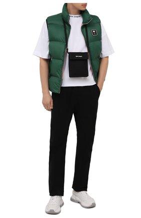 Мужская текстильная сумка PALM ANGELS черного цвета, арт. PMNN001F21LEA0011001 | Фото 2 (Материал: Текстиль; Ремень/цепочка: На ремешке)