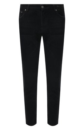 Мужские хлопковые брюки PALM ANGELS черного цвета, арт. PMYA012F21DEN0011010 | Фото 1 (Длина (брюки, джинсы): Стандартные; Материал внешний: Хлопок; Случай: Повседневный; Стили: Гранж)