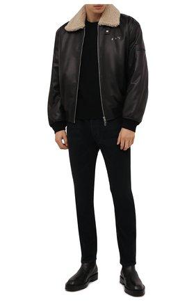 Мужские хлопковые брюки PALM ANGELS черного цвета, арт. PMYA012F21DEN0011010 | Фото 2 (Длина (брюки, джинсы): Стандартные; Материал внешний: Хлопок; Случай: Повседневный; Стили: Гранж)