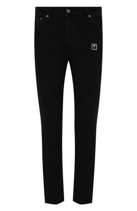 Мужские джинсы PALM ANGELS черного цвета, арт. PMYA012F21DEN0031001 | Фото 1 (Материал внешний: Хлопок; Кросс-КТ: Деним; Силуэт М (брюки): Узкие; Стили: Гранж; Длина (брюки, джинсы): Стандартные)