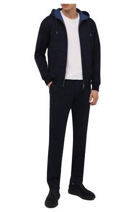 Мужской хлопковый спортивный костюм CAPOBIANCO синего цвета, арт. 11MT34.WY00. | Фото 1