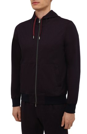 Мужской хлопковый спортивный костюм CAPOBIANCO бордового цвета, арт. 11MT34.WY00. | Фото 2