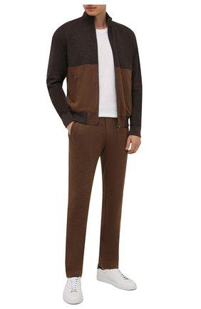 Мужской спортивный костюм из хлопка и кашемира CAPOBIANCO коричневого цвета, арт. 11MT28.M000. | Фото 1