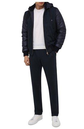 Мужские брюки CAPOBIANCO темно-синего цвета, арт. 11M706.SPR0. | Фото 2