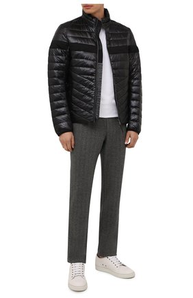 Мужские брюки CAPOBIANCO серого цвета, арт. 11M706.SPR0. | Фото 2