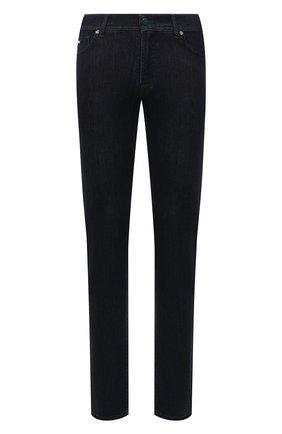 Мужские джинсы MARCO PESCAROLO темно-синего цвета, арт. NERAN0M18/ZIP/44J16 | Фото 1 (Материал внешний: Хлопок; Длина (брюки, джинсы): Стандартные; Кросс-КТ: Деним; Стили: Кэжуэл; Силуэт М (брюки): Прямые)