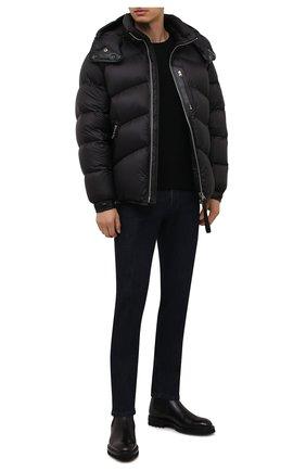 Мужские джинсы MARCO PESCAROLO темно-синего цвета, арт. NERAN0M18/ZIP/44J16 | Фото 2 (Материал внешний: Хлопок; Длина (брюки, джинсы): Стандартные; Кросс-КТ: Деним; Стили: Кэжуэл; Силуэт М (брюки): Прямые)