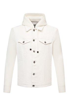 Мужская комбинированная куртка ELEVENTY белого цвета, арт. D70GBTD05 TET0D022 | Фото 1