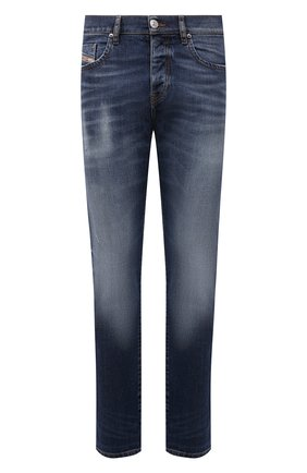 Мужские джинсы DIESEL синего цвета, арт. A03336/09A92 | Фото 1 (Материал внешний: Хлопок; Кросс-КТ: Деним; Детали: Потертости; Силуэт М (брюки): Прямые; Стили: Кэжуэл; Длина (брюки, джинсы): Стандартные)