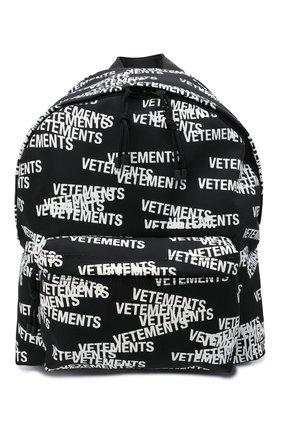 Мужской текстильный рюкзак VETEMENTS черного цвета, арт. UA52BA700B 1302/M   Фото 1 (Материал: Текстиль)