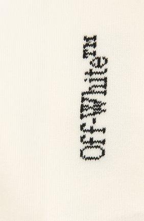 Мужские хлопковые носки OFF-WHITE кремвого цвета, арт. 0MRA040F21KNI001 | Фото 2 (Материал внешний: Хлопок; Кросс-КТ: бельё)